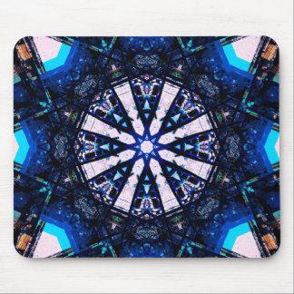 Blur Fractal Star Mandala Mouse Mat