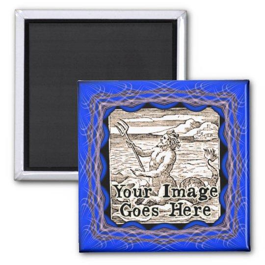 Blurple Blue Purple Fantasy Frame Template Magnet