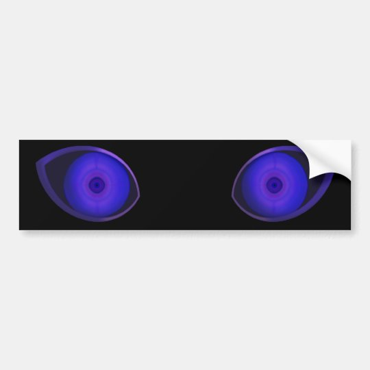 Blurple Very Evil Eyes Bumper Sticker