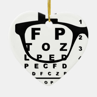 Blurr Eye Test Chart Christmas Ornament