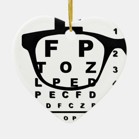 Blurr Eye Test Chart Christmas Ornament