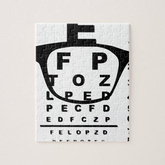 Blurr Eye Test Chart Jigsaw Puzzle