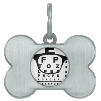 Blurr Eye Test Chart Pet ID Tag