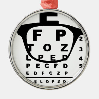 Blurr Eye Test Chart Silver-Colored Round Decoration