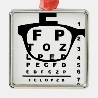 Blurr Eye Test Chart Silver-Colored Square Decoration
