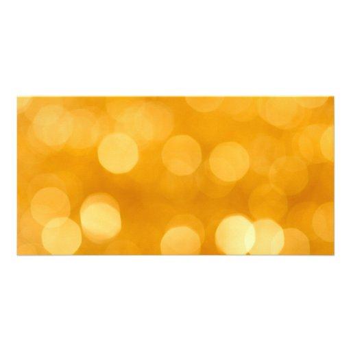 BLURRED BOTEK GOLDEN YELLOW CIRCLES PATTERN DIGITA PHOTO GREETING CARD