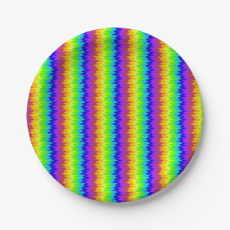 Blurred Bright Rickrack Paper Plates 7 Inch Paper Plate