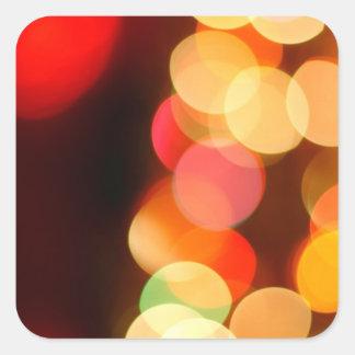 Blurred Christmas tree Square Sticker