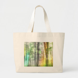 Blurred Forest Canvas Bags