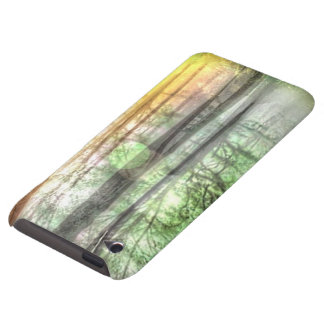Blurred forest barely there iPod case
