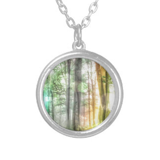 Blurred Forest Necklace