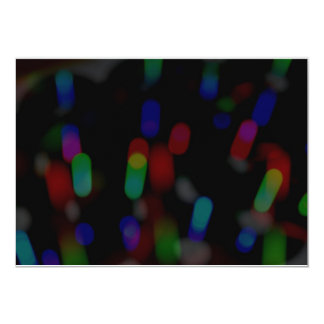 Blurred Lights 13 Cm X 18 Cm Invitation Card