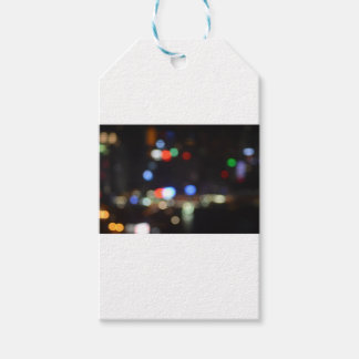 Blurred Night Lights of Hong Kong Gift Tags