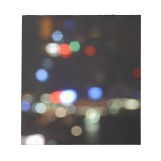 Blurred Night Lights of Hong Kong Notepad