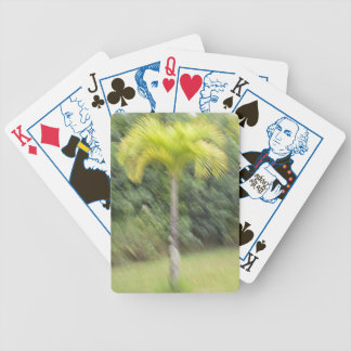 Blurred palm tree Bicycle Poker playing cards