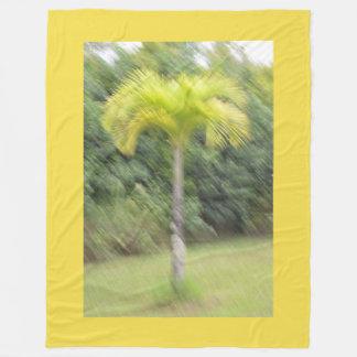 Blurred Palm Tree Hawaiian Blanket