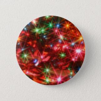 Blurred sparkling lights background 6 cm round badge