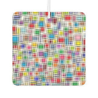 Blurred Squares Car Air Freshener