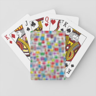 Blurred Squares Playing Cards