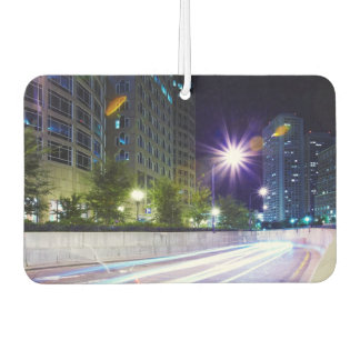 Blurred Traffic at Night Car Air Freshener