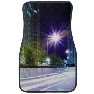 Blurred Traffic at Night Car Mat