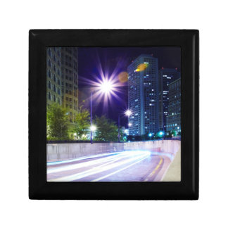 Blurred Traffic at Night Gift Box