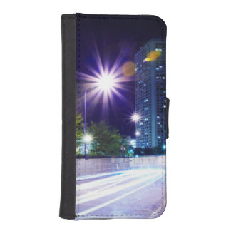 Blurred Traffic at Night iPhone SE/5/5s Wallet Case