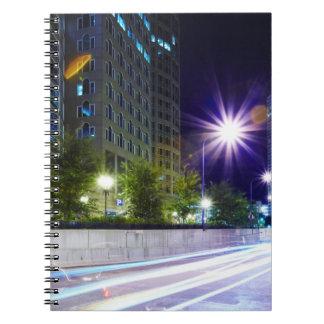 Blurred Traffic at Night Notebooks