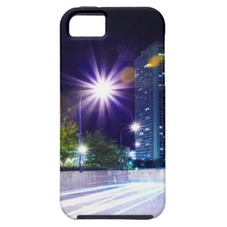 Blurred Traffic at Night Tough iPhone 5 Case