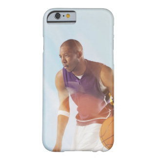 Blurred view of basketball player dribbling 2 barely there iPhone 6 case
