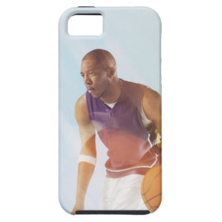 Blurred view of basketball player dribbling 2 case for the iPhone 5