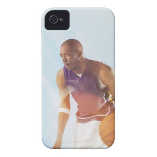 Blurred view of basketball player dribbling 2 iPhone 4 Case-Mate cases