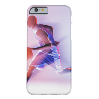 Blurred view of basketball player dribbling barely there iPhone 6 case