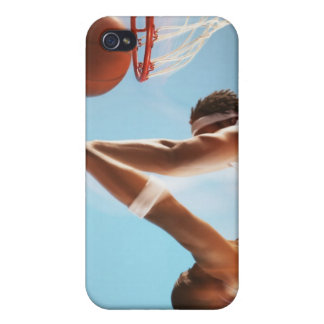 Blurred view of basketball player dunking cover for iPhone 4
