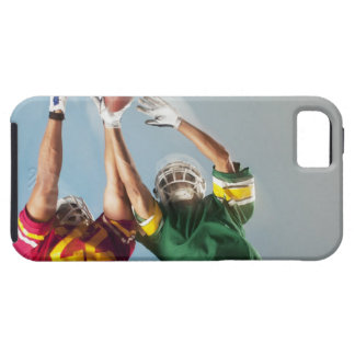 Blurred view of football players reaching for tough iPhone 5 case