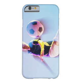 Blurred view of soccer player kicking ball 2 barely there iPhone 6 case