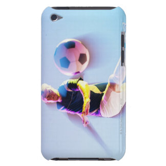 Blurred view of soccer player kicking ball 2 Case-Mate iPod touch case