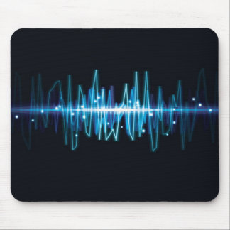 Blurry abstract audio wave light effect mouse mat