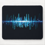 Blurry abstract audio wave light effect mousepad