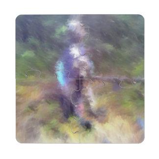 blurry troll photo puzzle coaster