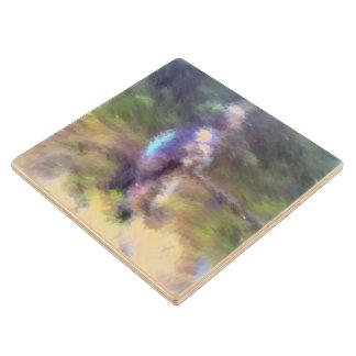 blurry troll photo wood coaster