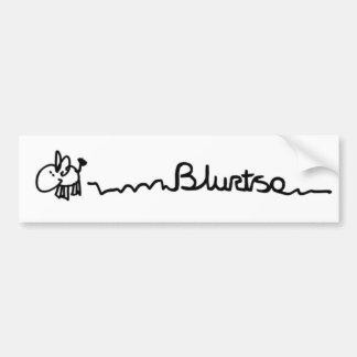 Blurtso the donkey bumper sticker