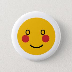 Blushing smiley face