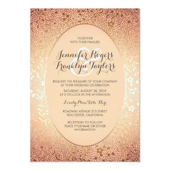 Blush and Gold - Elegant Floral Vintage Wedding