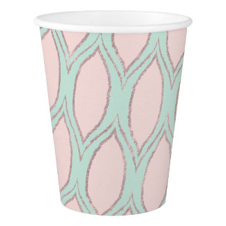 Blush and Mint Modern Geometric Pattern cups