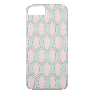 Blush and Mint Modern Geometric Pattern iPhone 8/7 Case