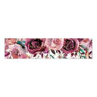 Blush and Wine Flowers & Gold Confetti Wedding Napkin Band