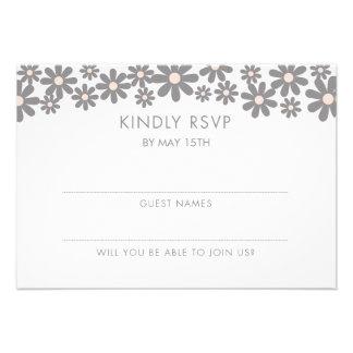 Blush Blooms Wedding Cake RSVP Invitation