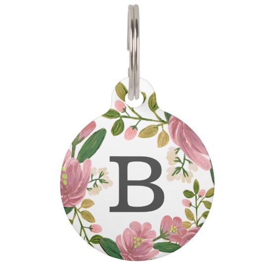 Blush Bouquet Pet Tag