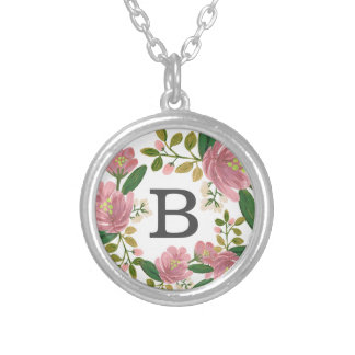 Blush Bouquet Silver Plated Necklace